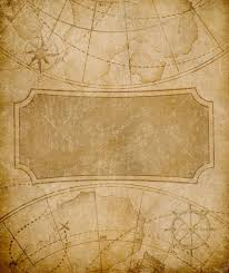 Old Map Cover Template Or Background Stock Photo