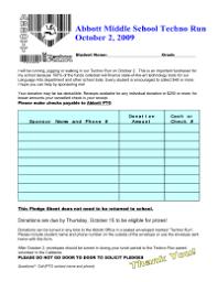 Walkathon Pledge Form Templates Pledge Sheets Pto Today