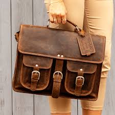 distressed leather satchel milan