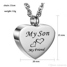 whole custom made metal plane heart shaped funeral cremation cremation urn necklace pendant fashion jewelry gold chains diamond necklace from
