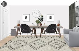 Office designer Simple Office Final Design Minimal Scandinavian Office Design By Havenly Interior Designer By
