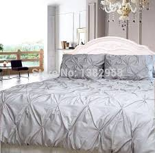 gray white duvet cover set 3 cotton sateen bedding thread count in king cal size pintuck white pin tuck duvet cover