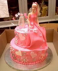 10 Barbie Tiered Cakes Photo Barbie Cake With Fondant Barbie Cake