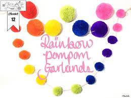 create 30 no 12 rainbow pom pom garlands by eliston on create