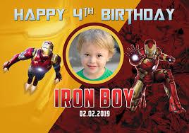 Happy 50th Birthday Tarpaulin Designs Avenger Iron Man Birthday Tarp Dioskouri Designs