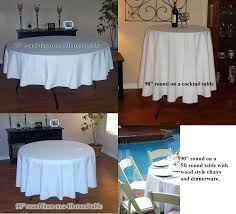 affordable what size tablecloth for inch round table designs x with 60