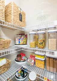 organized pantry ideas for wire shelves