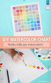 How To Make A Watercolor Chart For Mixing Paint Beautiful