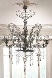 how to install chandelier with 3 wires luxury angelus shadow black wire chandelier via rockett st