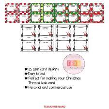 Task Card Christmas Santa Task Card Template Powerpoint Teka Kinderland