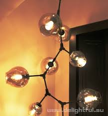 replica branching bubble chandelier 11 by lindsey adelman cascade dark