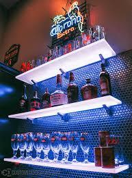 floating shelves with led lighting