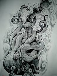 Small Picture Hippie Pencil Drawings Tumblr octopus breaking a guitar by