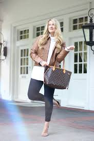 dallas fashion blogger cameron proffitt wears leather jacket by bernardo for chic fall daytime outfit