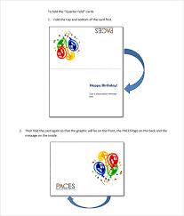 Half Fold Card Template Word Free Printable Quarter Fold Card Template Gemescoolorghalf