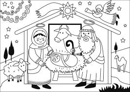 Geboorte Van Jezus Kleurplaat Gratis Kleurplaten Printen