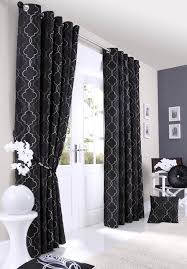 black patterned eyelet curtains gopelling net