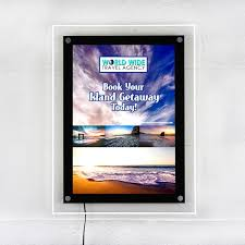 Led Light Box Display Stand Acrylic LED Lightbox Display PostUp Stand 14