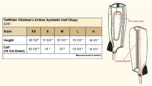 Details About Tuffrider Childrens Airflow Synthetic Half Chaps