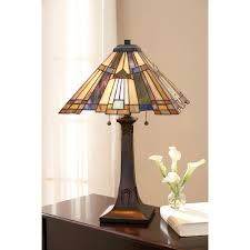 quoizel inglenook tiffany table lamp hover to zoom