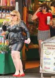 rebel wilson and dakota johnson sported their second outfit of the day