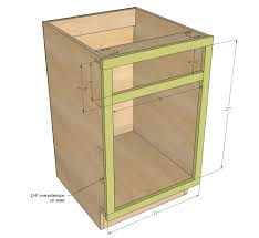 Ana White Build A 21 Base Cabinet Doordrawer Combo Momplex
