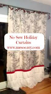 No Sew Curtains Diy Easy No Sew Holiday Curtains