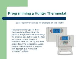 hunter thermostat training ppt programming a hunter thermostat