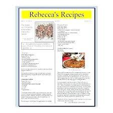 Recipe Template Google Docs Google Docs Cookbook Template Beautiful Free Recipe Template For