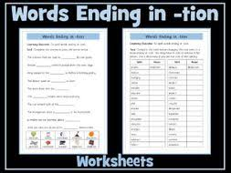 Printable phonics worksheets for kids. Tion Suffix Worksheets Teaching Resources
