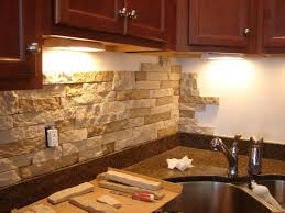 Use stone for a more rustic look on your backsplash