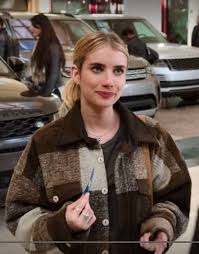 Holidate Emma Roberts Plaid Jacket