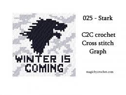 C2c Crochet Graph Pdf Instant Download Stark Baby Size