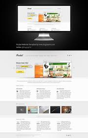 Free Psd Website Templates Gorgeous Pocket Website Theme Template Psd