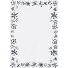 Snowflake Border Writing Paper Christmas Border Snowflake