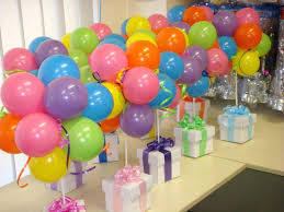 balloon decoration ideas for 1st birthday table decorations home