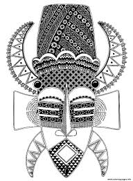 Small Picture adult africa mask Coloring pages Printable