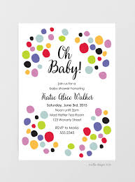Polka Dot Invitations Baby Shower Invitations Polka Dots