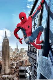 wallpaper art spider man homeing on