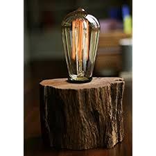 edison table lamp vintage home lighting. industrial lamp vintage edison bulb with drift wood base e27110v40w table home lighting