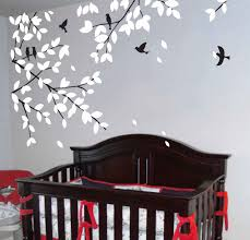 wall decals tree decals baby nursery kids room decor white nature ...
