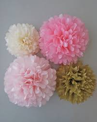 Gold Birthday Decorations Pink Gold Tissue Paper Pom Poms 4 Piece By Prettywithsprinkles