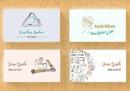 makeup artist business card designs exles vector and hr stylist layout format