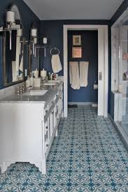 master bathroom in a nyc with mosaic house s rosa 29 14 33 41 cement encaustic tile on floor