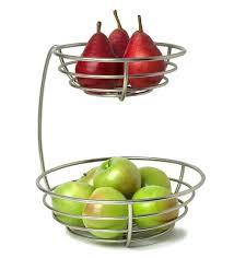 2 tier fruit basket silver 2 tier metal fruit basket 2 tier countertop fruit basket stand