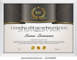 Modern Certificate Template Design Download Free Vector Art Stock