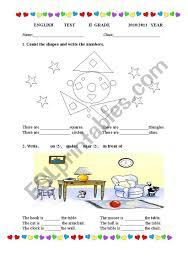 Download textbooks, dictionaries, manuals, audio, video etc. English Test 2nd Grade Esl Worksheet By Dibra001