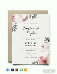 Wedding Invitation Templates With Photo Free Vintage Wedding Invitation Template Word Psd