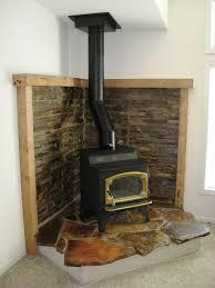 corner wood fireplace ideas