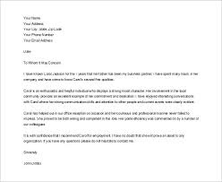 Character Reference Letter For A Friend Business Mentor